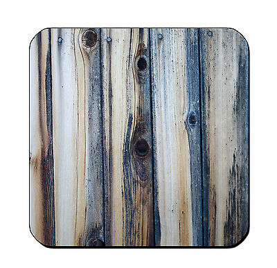 4 DRINK COASTERS - Wood #SN2 Teal Blue Gray glossy wood bar country rustic (Teal Coasters)