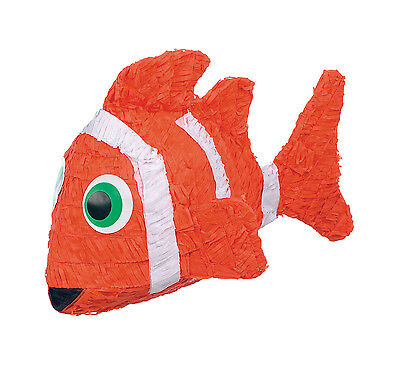 Clown Fish Pinata and Pinata Stick - Great for Finding Nemo Party (Nemo Pinata)