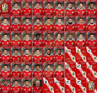 British and Irish Lions tour of New Zealand 2017 Rugby Trading Cards