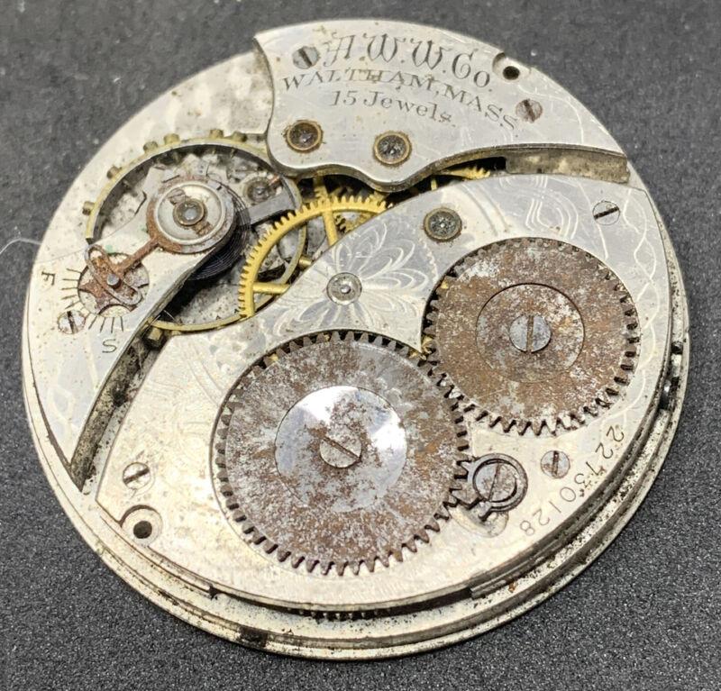 Waltham Grade 220 Pocket Watch Movement 12s 15j Hunter 1894 Parts Only F2576