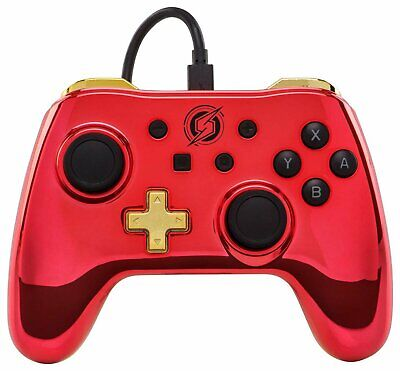 Wired Controller 8ft Removable Cable for Nintendo Switch - Chrome Metroid