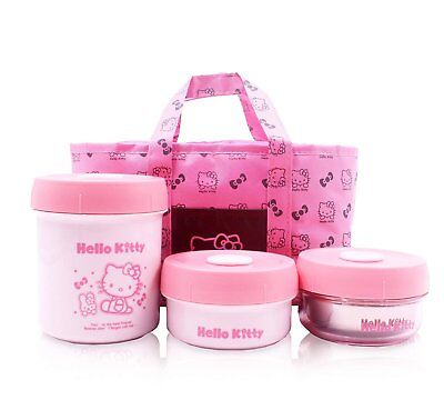 Finex Set of 4 Hello Kitty Food Safe Storage Boxes with Insu