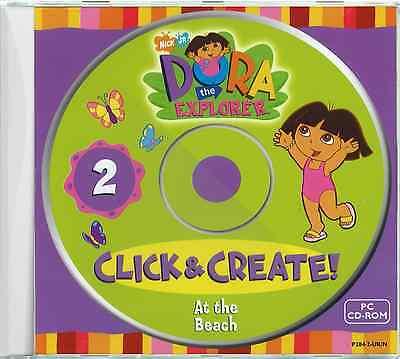 Dora the Explorer at the Beach - Fun Games Childrens Kids PC CD-ROM