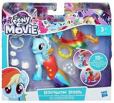 My Little Pony The Movie Land and Sea Snap On Fashion Style - Rainbow Dash - New
