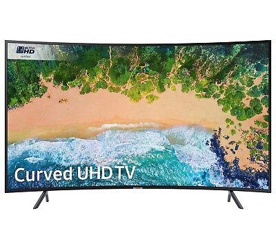 Samsung UE49NU7300KXXU 49 Inch Curved 4K Ultra HD HDR Smart WiFi LED TV - Black