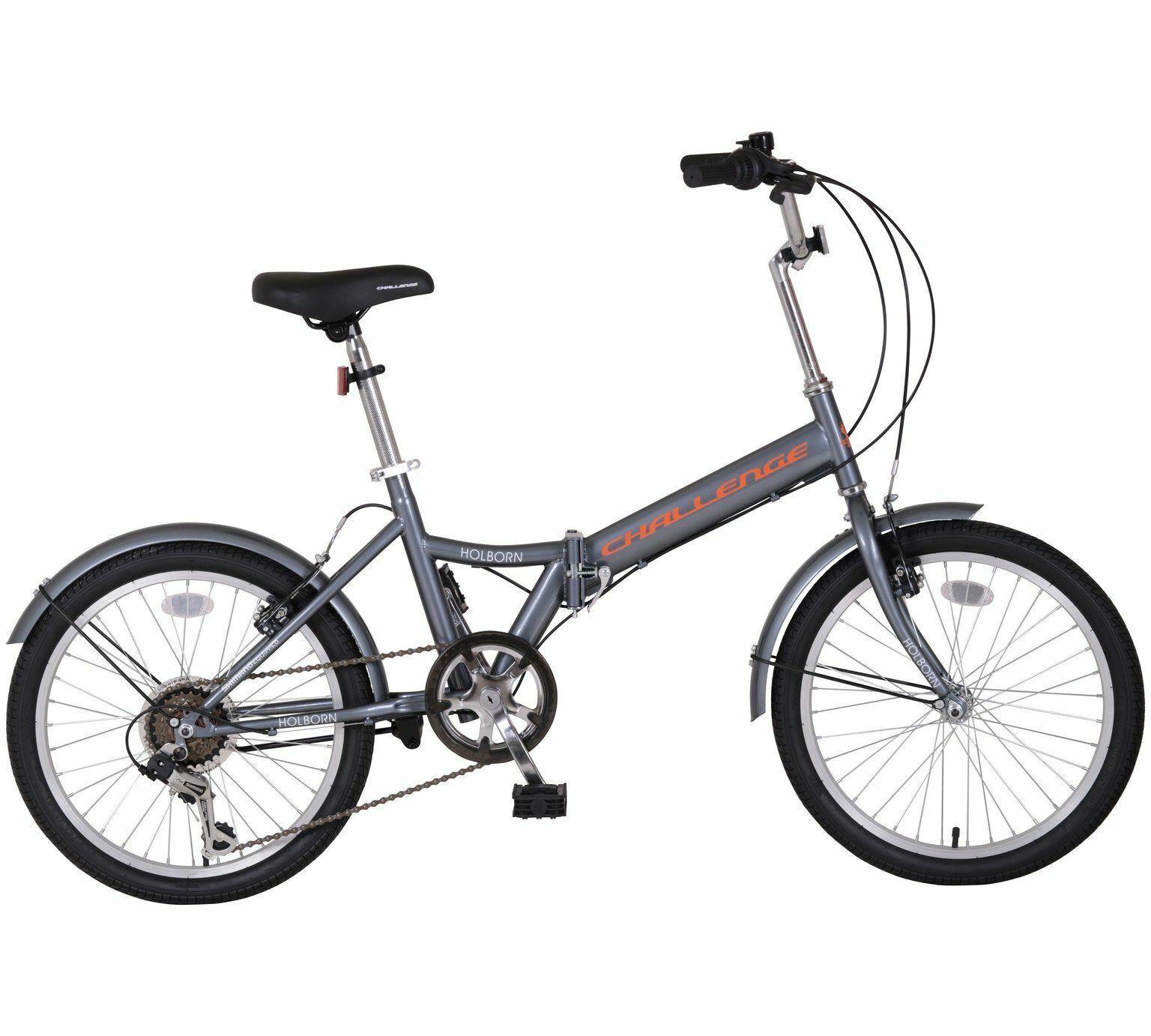 "Challenge Holborn 20"" Inch Wheel Folding Commuting Bike Bicycle 6 Gear Unisex"