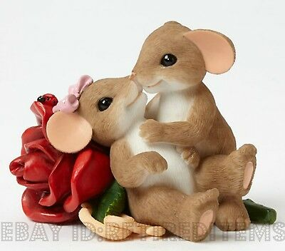 Loving You Is My Passion CHARMING TAILS Mouse Figurine Valentines Day Gift Love