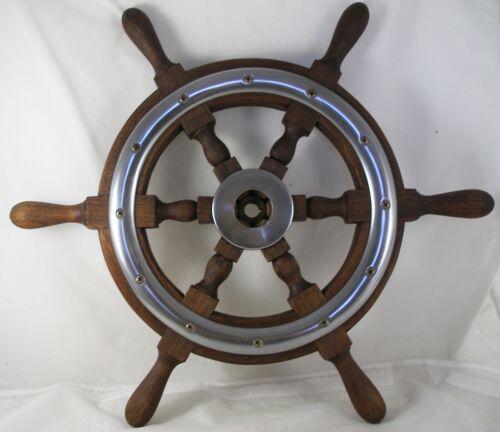 "Antique salvaged Chris Craft Helm Wheel  Ship wheel   21.5"" Mahogany"