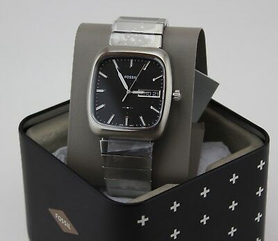 NEW AUTHENTIC FOSSIL RUTHERFORD SILVER SQUARE MEN'S FS5331 WATCH