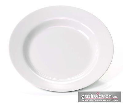 12 Stück Melamin Teller TIEF Ø 23 cm Kunststoff Mehrweg Suppenteller tiefer