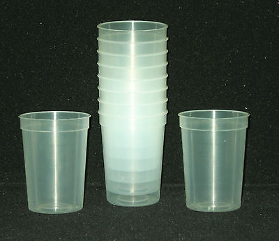 12- Small Glow In The Dark Plastic Drinking Glasses Mfg Usa Lead Free Durable