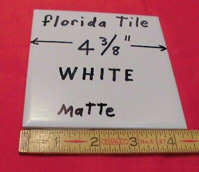 Ceramic Tile Matte Tile (1 pc. *White* Matte Ceramic Tile 4-3/8