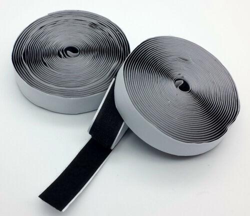 10m Klettband selbstklebend Schwarz Premium Qualität - Haken Flausch