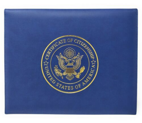 U.S. Citizenship and Naturalization Certificate Cover Holder Padded NEW