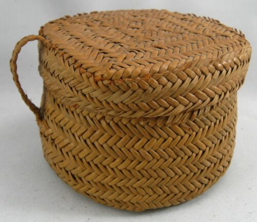 Yaqui Basket with Hinged Lid, Sonora Mexico, Southwest U.S.