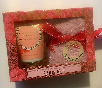 Foot Lotion 2.2 oz & Moisturizer Ultra Soft Spa Socks Set POMEGRANATE-VANILLA