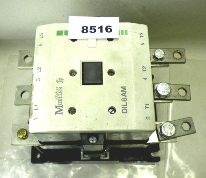 (8516) Klockner Moeller DIL6AM Contactor 600V 315A 110/120 Coil