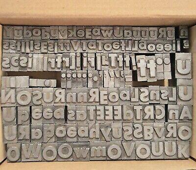 Vintage Mixed Letterpress Letters Symbols 150 Count Lot