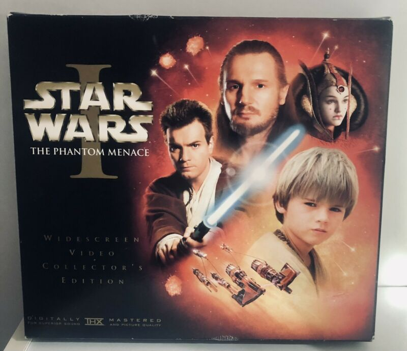 "Star Wars The Phantom  Menace Episode I Video, Film Strip & Book ""Used"""