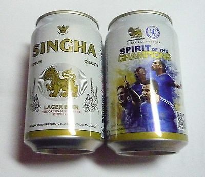 EMPTY - SINGHA CHELSEA FC Lager BEER can THAILAND 330ml Asia 2011 Collect