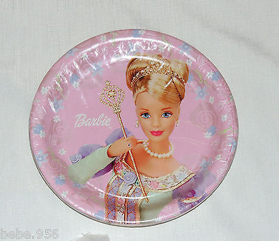 Barbie Party Plates ( NEW  ~BARBIE DREAM TIME~  8 LUNCH  PLATES VINTAGE  PARTY)