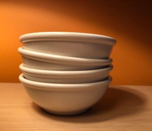 BURLEIGH Staffordshire England Bowls 4 Cream Vintage