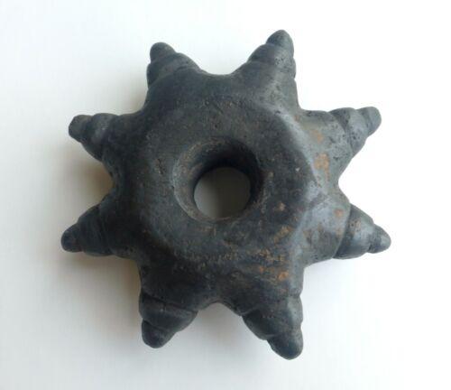 Peruvian Andean Inca style Star Shape Macana Chumpi - Carved in Jiwaya Stone