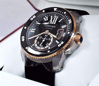 Cartier Calibre De Cartier Diver W7100055 42mm Automatic 18K Rose Gold *UNWORN*