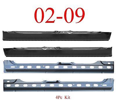 02 09 Dodge 4Pc Quad Cab Extended Rocker & Inner Rocker Panel Kit, Both Sides!, used for sale  Edison