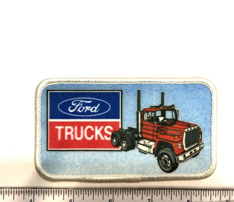 New Ford Trucks Red White And Blue Edge Embroidered Iron-On Patch-Nice! 1A