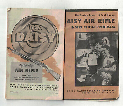 1959 Daisy Air Rifle Booklet Instruction Program for sale  Shipping to Canada