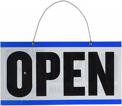 3 Pack Closed Clock Sign W Open Sign On Back - 6 X 11.5 Inch