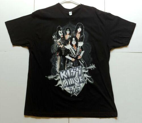 KISS Band T-Shirt Alive 35 Concert Tour Shirt XL UNWORN Gene Paul Eric Tommy
