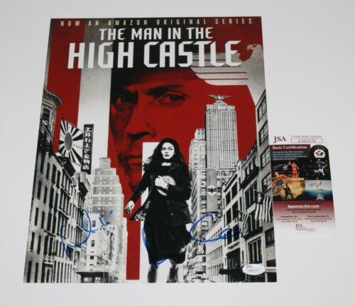 RUFUS SEWELL ALEXA DAVALOS SIGNED MAN IN THE HIGH CASTLE 11x14 POSTER PHOTO JSA