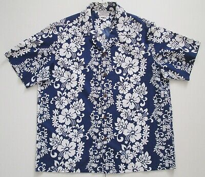"Vintage Auth Hanauma Bay Hawaii USA  Hawaiian Shirt 48""-122cm L (116H)"