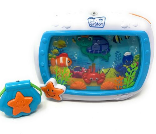 Baby Einstein Sea Dreams Soother Crib 90609 Light&Sounds+Remote&Strap-Tested