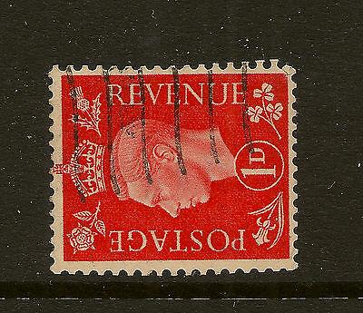 GB : 1938 1d scarlet sideways watermark  SG 463a good used