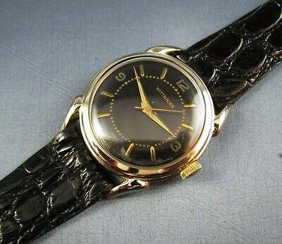 Vintage Longines Wittnauer 10K Gold GF Hand Wind Mens Watch 17J 10ESB 1950s