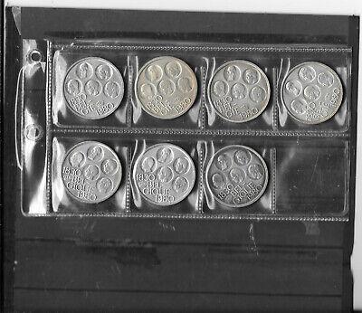 7 x 500 Francs 1830-1980 (en Français 3 et Vlaams Versie 4)