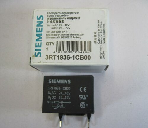 New SIEMENS 3RT1936-1CB00 SURGE SUPPRESSOR for 3RT1 Contactor 24-48VAC  24-70VDC