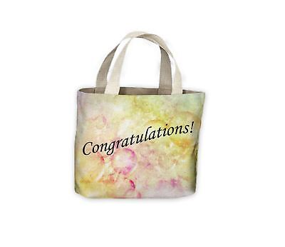 Congratulations Wedding Anniversary Gift Celebration Tote Shopping Bag For Life