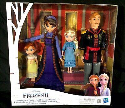 Disney Frozen 2 Arendelle Royal Family 4-piece Doll Set NEW IN BOX Hasbro