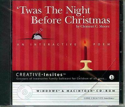 Twas the Night Before Christmas An Interactive Poem CD-ROM Windows Mac  ()