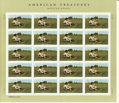 USA**Winslow HOMER-PAINTER-SHEET 20v-Sc4473- 2010-AMERICAN ART TREASURES