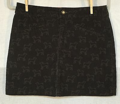 SUPER CUTE CORDUROY DOG PATTERN SKIRT by VINEYARD VINES size 4