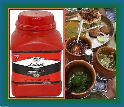Lalah's Heat Treated Madras Curry Powder 1 LB BON APPETIT-Madras Poudre de Curry
