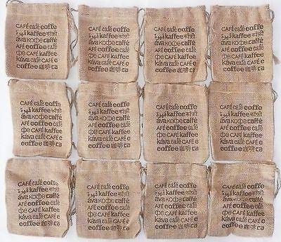 Lot Of 12 Burlap Coffee Bags 5 5  X 6  Gunny Sack  New  Jute Starwood Bag