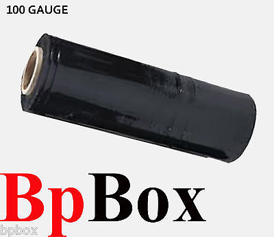 100 Ga 1 Stretch Film Rolls Wrap Packaging 18 X 1000 Black