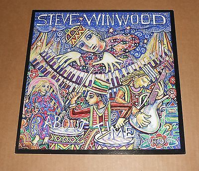 Steve Winwood About Time 2003 Promo Double Sided Flat Square Poster 12x12