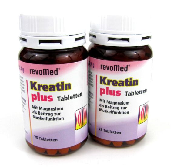 Kreatin plus revomed mit 400 mg Kreatin und 150 mg Magnesium 2 x 75 Tabletten